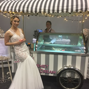 Ice Cream Cart with Bride